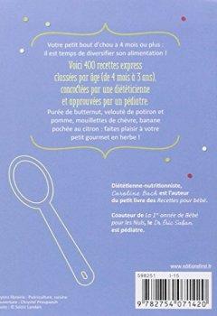 Livres Couvertures de 400 recettes pour bébé