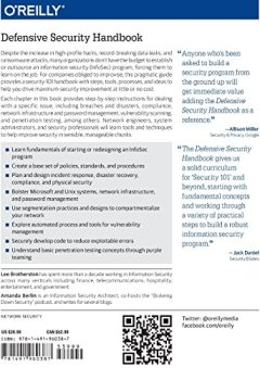Livres Couvertures de Defensive Security Handbook: Best Practices for Securing Infrastructure