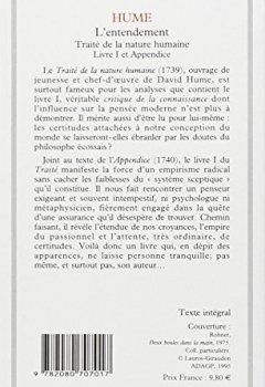 Livres Couvertures de Traité de la nature humaine : Livre 1 et appendice,L'entendement