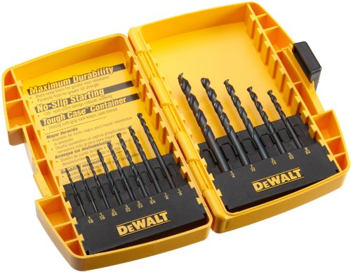 DEWALT DW1163  13 Piece Black Oxide Split Point Twist Drill Bit Assortment