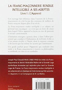 Livres Couvertures de La Franc-maçonnerie rendue intelligible à ses adeptes : Tome 1, L'Apprenti