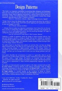 Livres Couvertures de Design Patterns: Elements of Reusable Object-Oriented Software