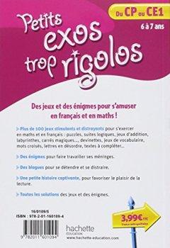 Livres Couvertures de Petits exos trop rigolos - Du CP au CE1 - Cahier de vacances