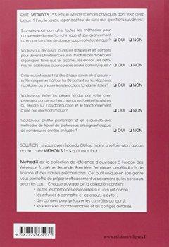 Livres Couvertures de Méthod'S Physique Chimie Première S Conforme au Programme 2011