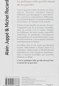 Livres Couvertures de La politique, telle qu'elle meurt de ne pas être