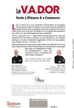 Livres Couvertures de Le V.A.D.OR Réussir e-commerce et vente à distance