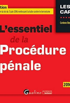Livres Couvertures de L'Essentiel de la Procédure pénale 2016-2017, 16ème Ed.