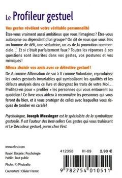 Livres Couvertures de Le Profileur gestuel - Vos gestes révèlent votre profil et celui de vos interlocuteurs !
