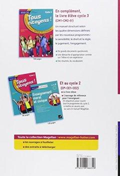 Livres Couvertures de Magellan Tous Citoyens Enseignement Moral et Civique Cycle 3 éd. 2015 - Guide de l'enseignant