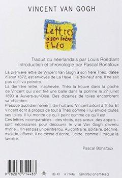 Livres Couvertures de Lettres à son frère Théo