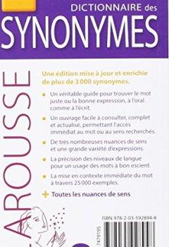 Livres Couvertures de Dictionnaire des synonymes Poche