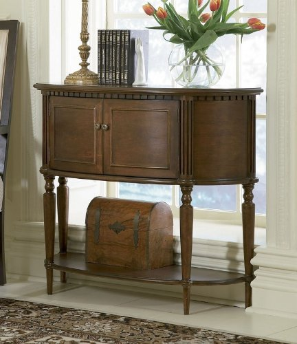 Foyer Table Cherry : Buy low price entryway console sofa table with bowed front