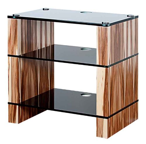Image of BLOK STAX DeLuxe 300 Three Shelf Satin Walnut Hifi Audio Stand & AV TV Furniture Rack Unit (B008AHJ5CO)