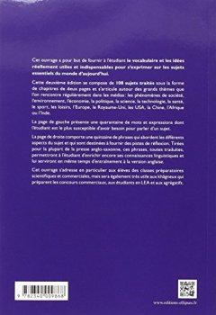 Livres Couvertures de Vocabulaire Thématique Anglais-Français le Monde d'Aujourd'Hui Société Environnement Économie Politique Technologie Santé