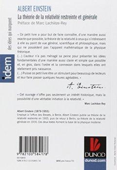 Livres Couvertures de La théorie de la relativité restreinte et générale - 2e éd.