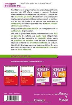 Livres Couvertures de L'anglais à Sciences Po - Concours commun + Paris + Bordeaux + Grenoble - Tout pour réussir