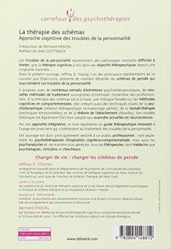 Livres Couvertures de La thérapie des schémas : Approche cognitive des troubles de la personnalité
