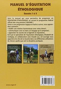 Livres Couvertures de Manuel d'équitation éthologique : Savoirs 1 à 5