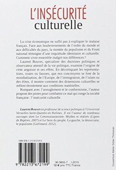Livres Couvertures de L'insécurité culturelle