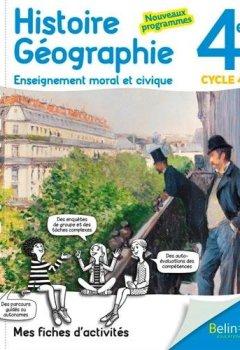 Livres Couvertures de Mes fiches d'activité d'Histoire Géographie EMC 4ème