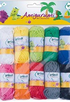 Livres Couvertures de Gründl  Amigurumi - Set I  Fil à tricoter Coton Multicolore 19,50 x 18,00 x 2,60 cm