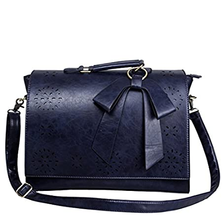 Ecosusi Fashion Vintage Messenger bag Some women love bags because it is durable, fashion and classic. That's the case with this PU Leather Tote. This bag can hold just about anything you want to take with you on- the-go. The tote has one main co...