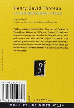 Livres Couvertures de La désobéissance civile
