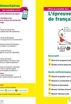 Livres Couvertures de Annales Annabac 2018 Français 1re L, ES, S: sujets et corrigés du bac Première séries générales