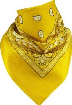 Buchdeckel von Harrys-Collection Bandana Bindetuch 100% Baumwolle 1 er 6 er oder 12 er Pack!, Farbe:gelb