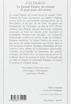 Livres Couvertures de Le Grand Théâtre du monde - El gran teatro del mundo (livre bilingue)