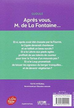 Livres Couvertures de Après vous, M. de La Fontaine...