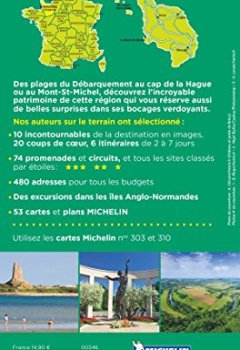 Livres Couvertures de Guide Vert Normandie Cotentin Michelin
