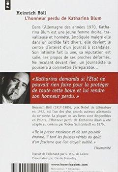 Livres Couvertures de L'Honneur perdu de Katharina Blum