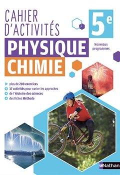 Livres Couvertures de Cahier de Physique-Chimie 5e