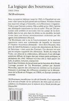 Livres Couvertures de La logique des bourreaux (1943-1944)