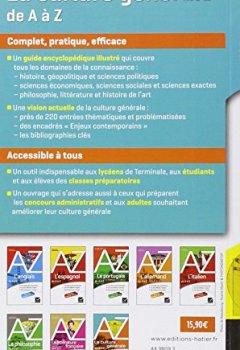 Livres Couvertures de La culture générale de A à Z: classes prépa, IEP, concours administratifs...