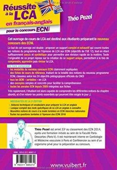 Livres Couvertures de Réussite à la LCA en français-anglais pour le concours ECNI