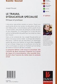 Livres Couvertures de Le travail d'éducateur spécialisé - 3e éd. - Ethique et pratique