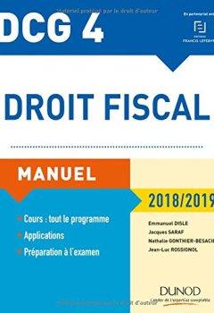 Livres Couvertures de DCG 4 - Droit fiscal 2018/2019 - Manuel