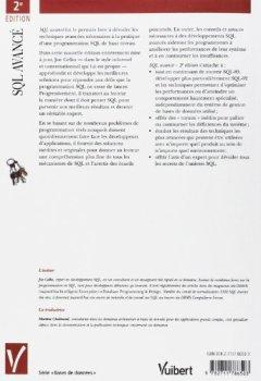 Livres Couvertures de SQL avancé : programmation et techniques avancées