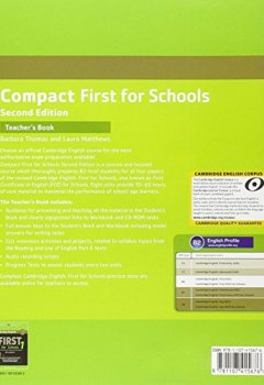 Livres Couvertures de Compact First for Schools Teacher's Book