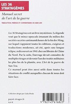 Livres Couvertures de Les 36 Stratagèmes : Manuel secret de l'art de la guerre