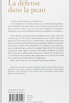 Livres Couvertures de La défense dans la peau