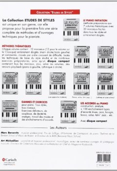 Livres Couvertures de Bercovitz Gammes & Exercices Pour Piano Tous Styles Tous Niveaux Pf Bk-