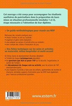 Livres Couvertures de Réussir ses MSP - Soins et activités - Auxiliaires de puériculture