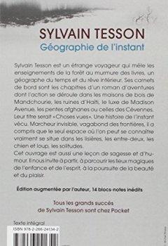 Livres Couvertures de Géographie de l'instant