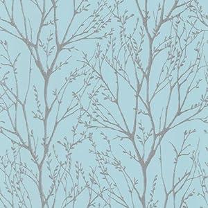 I Love Wallpaper Shimmer Wallpaper Teal / Silver - - Amazon.com