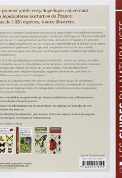 Livres Couvertures de Guide des papillons nocturnes de France. Plus de 1620 espèces décrites et illustrées