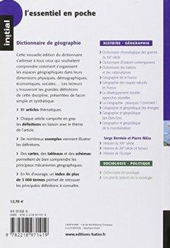 Livres Couvertures de Initial dictionnaire de géographie