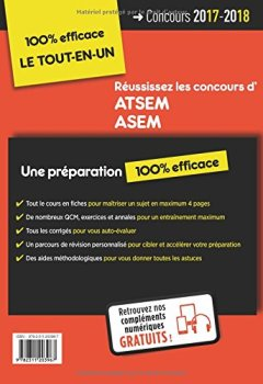Livres Couvertures de Concours ATSEM et ASEM - Catégorie C - Préparation complète et rapide à toutes les épreuves - Agent (territorial) spécialisé des écoles maternelles - Concours 2017-2018